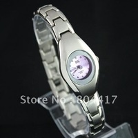 Wholesale New  Guranteed 100% 1pcs stainless steel wristwatch silver  quartz  ladies women watch +Free Shipping