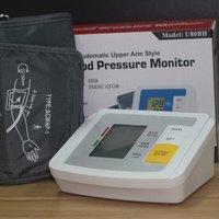 U80BH Digital Wrist Blood Pressure Monitor & Heart Beat Meter ,Free-factory wholesales