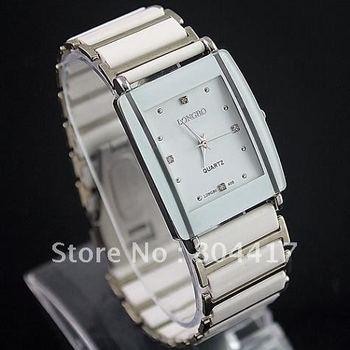 Free Shipping 2012 New 100% High Quality White Women's Ladies Girls Stainless Steel Quartz Unisex Wristwatch