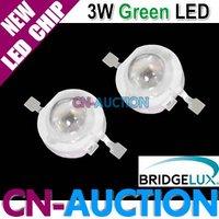 FREE SHIPPING!!! Bridgelux 3W LED Chip Green High Power LED Lamp Beads, 45mil, LED Lighting 200pcs/lot (CN-BLC22) [Cn-Auction]