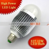 10pcs/lot Free Shipping AC85-265V E27 12W LED Bulb,LED Light,1320LM,12*1W LED LAMP