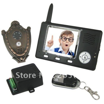Wireless Portable Video Intercom System with 3.5 Inch Monitor & Motion Alarm
