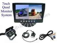 Reversing Truck Camera System,with 7inch Quad Monitor,DC12V~24V Compatible