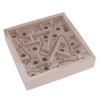 Free Shipping  Cheap 5pc Mini Maze Game  Wooden Labyrinth  Toy Educational Puzzle Best Gift for Children Hand Pinball Game