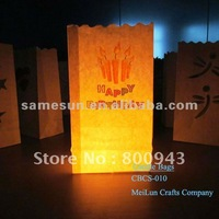 Print luminary candle bags for Birthday party