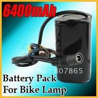 6400mAh 8.4v Li-ON 18650 Battery Pack For 1600/1200 LM T6/P7 LED Bike Ligh Free Shipping