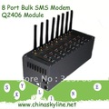 with Wavecom Q2406B module, SUPPLY 8 Port USB GSM Modem/Bulk SMS sender, AT Command