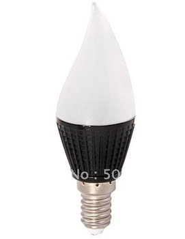 Black heat sink  SMD5630 frost LED Candle light 3W cool white