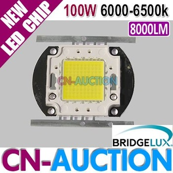 FREE SHIPPING! Bridgelux 100W White LED Chip 6000-6500K 8000LM High Power LED SMD Lamp 10pcs/lot (CN-BLC26) [Cn-Auction]