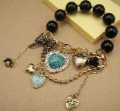 003   Cute Heart crystal Jewelry Beads Bracelets for women   ZB7.99