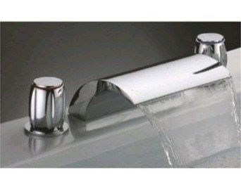 Faucetqing 040060 Single Handle Wall Mount Waterfall LED Bath Tub ...