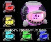 Free Shipping Colorful music ball alarm clock, Lazy LED Colorful color Alarm Clock 0.19kg