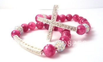 Free Shipping New Arrival Shamballa Cross bracelet/Shamballa Bracelet Cross center Jewelry