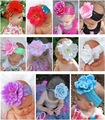 10pcs/lot Baby Flower Headbands/Childrens Hair Accessories/Samgami Headdress/kids headwear