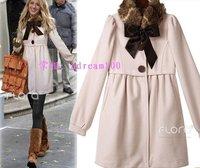 FREE SHIPPING JAPAN FASHION WOMAN'S Gossip girl serena sweet coat collars