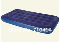 Free DHL Shipping twin Flocked Coil Beam Air Bed, Inflatable Bed, Air Bed/Mat/Mattress, Camping Mattress, flocking airbed