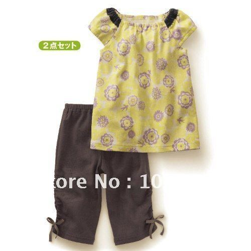 Free Shipping 5sets baby clothes, baby suit, Baby top+ pant, children ...