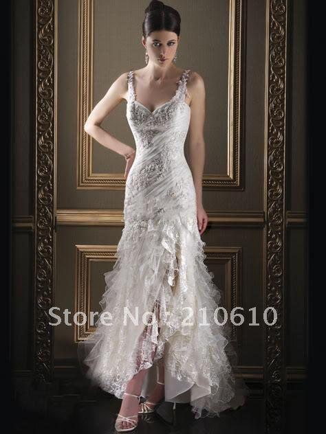 2012Suzhou Champagne/Aqua/ Purple/blue/fuchsia/Emerald /ivory/Spaghetti straps Wedding Dresses #HS-1020(China (Mainland))