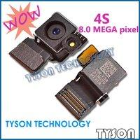 Original 8.0 mega pixel Back rear Camera w/Flash for iPhone 4S Back rear Camera Free Shipping