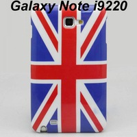 Free Shipping 10pcs/lot Smooth UK British Union Jack Flag Pattern Back Hard Case Cover for Samsung Galaxy Note i9220 GT-7000