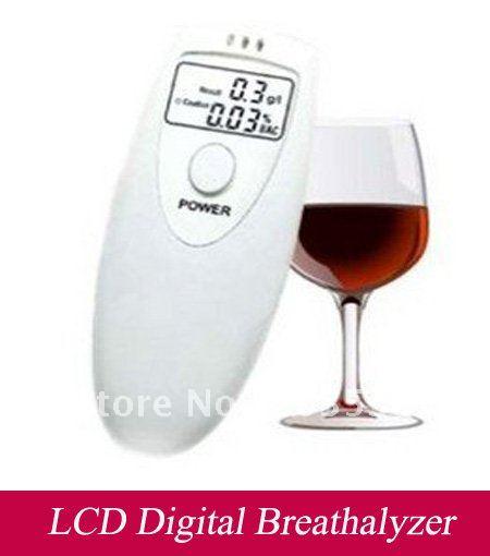 Free Shipping 10pcs/lot LCD Digital Breath Alcohol Tester,Breathalyzer Analyzer(China (Mainland))