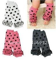 G3 HOT!! Baby socks lace leg warmers knee pad children legging Kids toddler High socks stocking