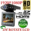 Free ship! Wholesale!! 120 degree 9712 lens HD1920*1080p IR Rotable 270 degree Monitor HDMI Vehicle dash Car Camera