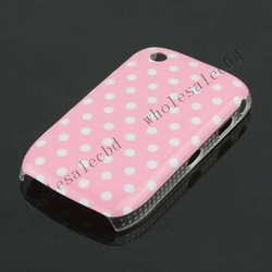 300pcs/lot Hot selling IMD glossy hard cases wave point skin cover back case for Blackberry 8520(China (Mainland))