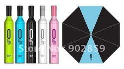Free Shipping 50pcs/lot Quality Goods New fashion Bottle umbrella Wine umbrella sunshade Solar umbrella(China (Mainland))