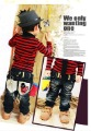ISSOKIDS kids love magic double waist jeans HJ602-4