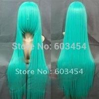 Miku Hatsune / 100Cm High Green Onions Green Wig Straight Hair Cos Wig/ Cheap Free Shiping 1PCS