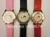 Free shipping 25pcs/lot gift lady watch,hello kitty watch