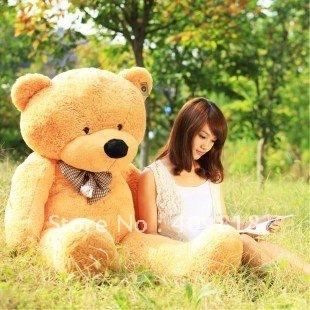 "47"" Giant Huge milky plush teddy bears Holiday Gifts Christmas Stuffed Plush Toys Sold"