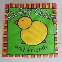 Free shipping 10pcs/lot baby's educational toy/ fluffy chick and friends cloth book