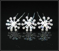 HP005 Free shipping Bridal girl crystal hair pins shining Rhinestones fashion star shape hair pin Mixed Items 50pcs/lot