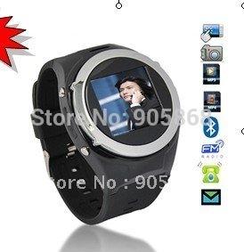 Cheap Free ship Watch Cell Phone mq998 GSM quad-band,bluetooth, 1.3 Mcamera,FM,mp3/MP4. sim card mobile