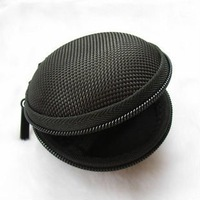 10pcs/lot! High compressive earphone rattan cloth portable headphone protection sleeve iPod 2 iPhone 4 headset bag