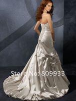 2012 new boutique luxury taffeta strapless sweetheart neckline tail wedding dress
