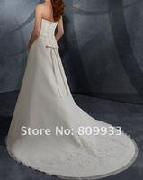 2012 new luxury hot satin yarn sexy sweetheart neckline tail wedding dress