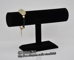 High Quality Black Velvet T Bar Stand Watch Display Bracelet Display Bangle Display(China (Mainland))