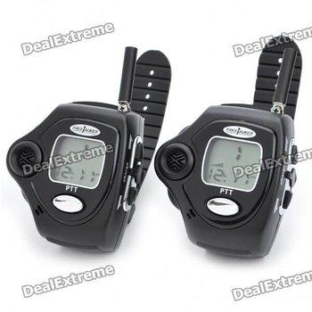 "Compact Wrist Watch Style 1.0"" LCD Walkie Talkies Set (Pair/2.5km-Distance)"