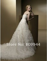 w460 High quality strapless with trailing wedding gown