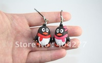 "Free shipping,Mini 3D plastic Penguins/QQ Cell Phone strap and Bags strap,Width * Height: 0.8"" x 1.2"""