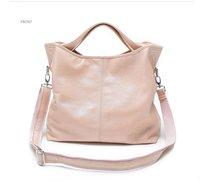 Free-ship Hot Genuine leather bagl  women's fashion bag  shoulder bag messeger bag tote Pink Blue