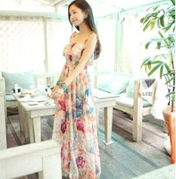 2012 New style Women cotton FREE size long dress,  FLOWER dress,chiffion ong  dress, full-length  dress--460-5061