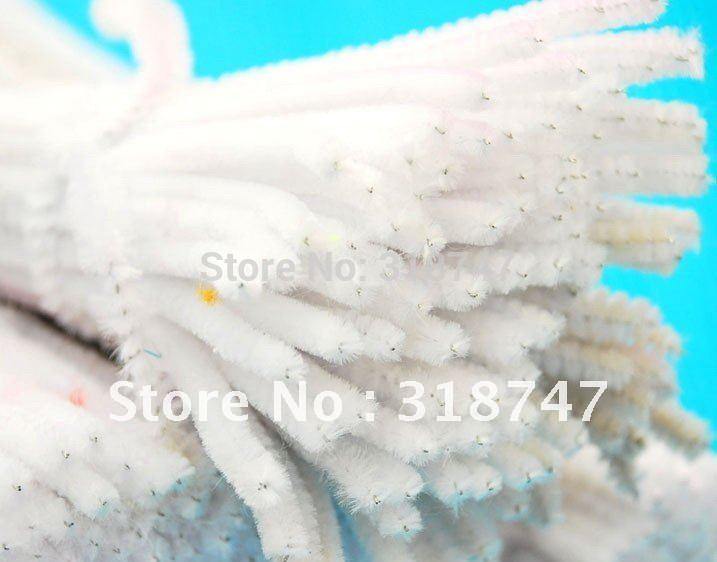 300 x 6mm 50pcs/pack white Chenille Stems Pipe Cleaners Handmade Diy Art &Craft Material kids Creativity handicraft toys(China (Mainland))