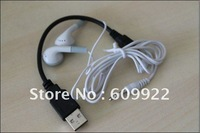 Free shipping mp3 accessories 10pcs earphone+10pcs 5pin usb cable for mp3 player