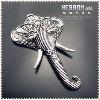 49*81 mm Free ship Tibetan Silver (5pcs) Zinc Alloy Jewelry Accessories Classic Elephant Pendant(3818#)