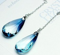 Free shipping 100% new crystal water drop earrings with wholesale and retal