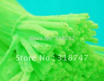 "12"" x 6mm  50pcs/pack light green Chenille Stems Pipe Cleaners Handmade Diy Art &Craft Material kids Creativity handicraft toys"
